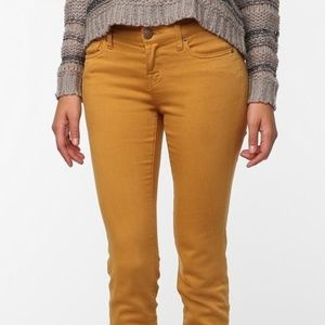 BDG Cigarette High Rise Yellow Pants